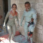 photo-Mister Boo et Lady Boo apres une lutte dans la boue voila le resultat ^^