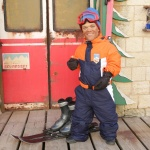photo-Passe-Muraille en tenue de ski