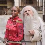 photo-Le Père Fouras et Félindra dans la Salle du Trésor