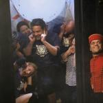 photo-L'équipe numéro 3 dans l'Ascenseur du fort (direction la salle des aventures)