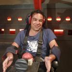 photo-Patrick Cohen sur le fauteuil de Gagarine