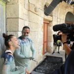photo-Slimane et Camille Lellouche sortent de la cellule de la lutte. Leur réactions sont de suite collectées par Sébastien Alamecery et Jean-Dominique Lamy