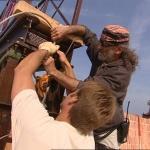 photo-La passerelle technique des aventures en 2004