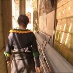 photo-Un des couloirs qui longent la salle du trésor en 2004.